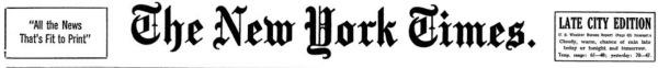 New York Times header.