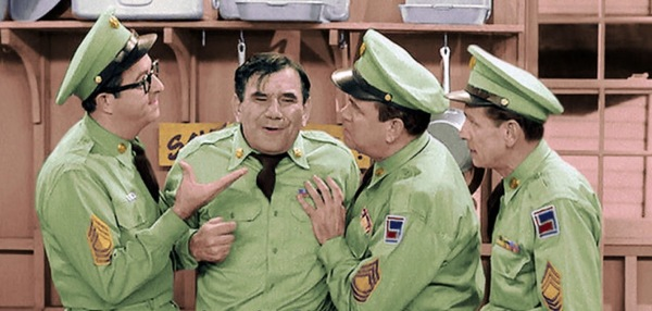 """Is it a bet?"" asks the inimitable Sergeant Ernest G. Bilko in the classic Bilko show called A Mess Sergeant Can't Win."
