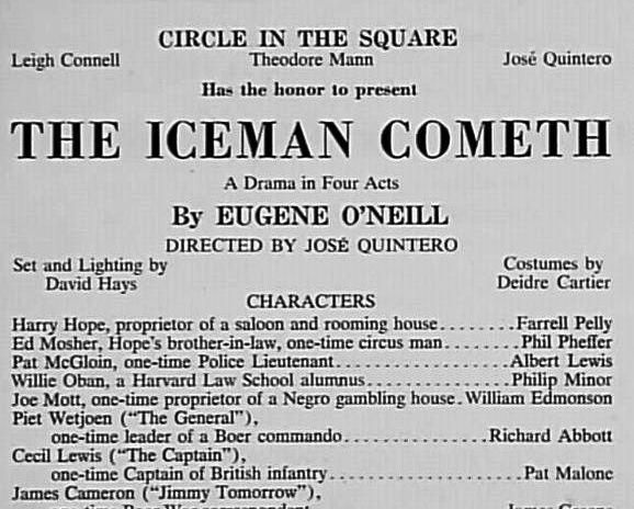 The Iceman Cometh flyer.