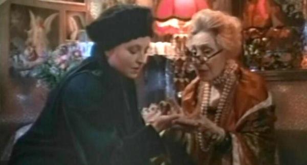 Hanna Schygulla with Beatrice.