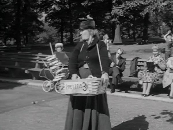 Pretzel Mary -- The scenes of Pretzel Mary selling her goods in the park took place in Crotona Park, next door to the Biograph Studios where the series was filmed. The park had a fabulous pool, a lake, tennis courts, basketball courts, baseball diamonds, and so much more.