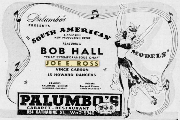 Philadelphia - November 1946. Palumbo's!