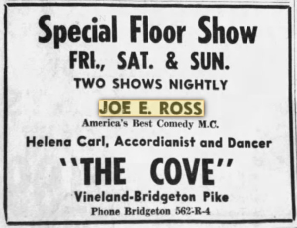 19 Dec 1947 - Vineland, New Jersey - The Cove.