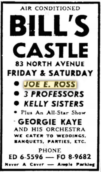 Bridgeport, Connecticut -15 Sep 1955 Bill's Castle.