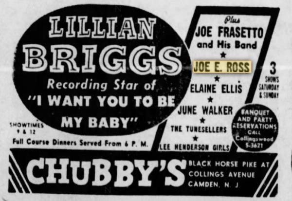 Camden, New Jersey - 12 Oct 1955 - Chubby's.
