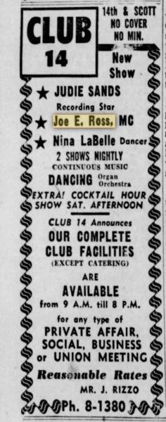 Wilmington, Delaware - 22 October 1955 - Club 14.
