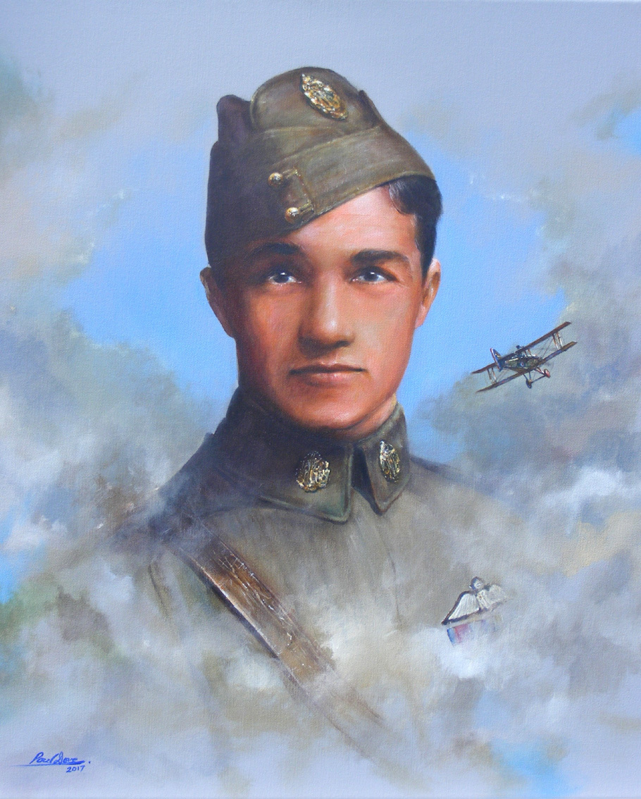 Captain Albert Ball - Professional Art by Paul Dove. This painting depicts Albert Ball, flying his SE5 (A4850) on the evening of May 7th 1917, having spotted an enemy aircraft, he prepares to attack, watched by fellow RFC pilot Cyril Crowe.