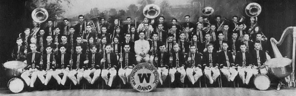 Washington High School Band 1930: Nat front row, 2nd from the left.