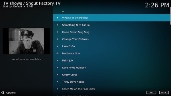 12. Select any show to watch.