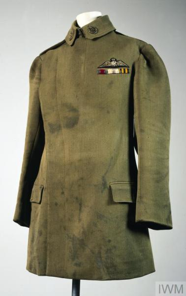 This jacket was given to the Imperial War Museum after the First World War by Captain Ball's father. The distinctive pattern of tunic was first introduced in 1911.
