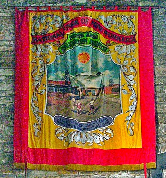 National Union of Mine Workers Banner in St Wilfrids Church.
