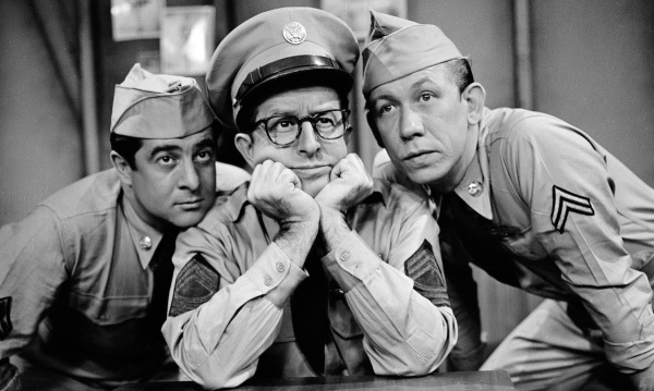 Harvey Lembeck, Phil Silvers  and Allan Melvin in The Phil Silvers Show.