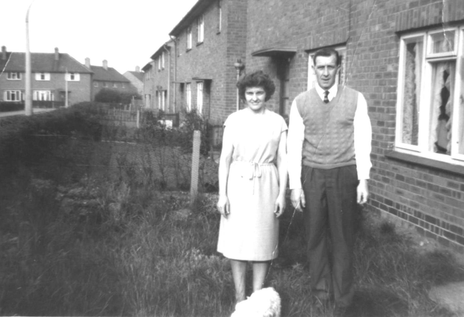 1963, Ray and Joyce Palin outside their house (5 Beck Avenue)