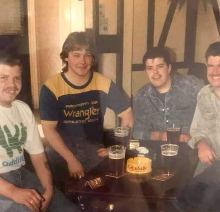 Gordon Hunter, Billy Austin, Paul Hunter and Paul Brown....