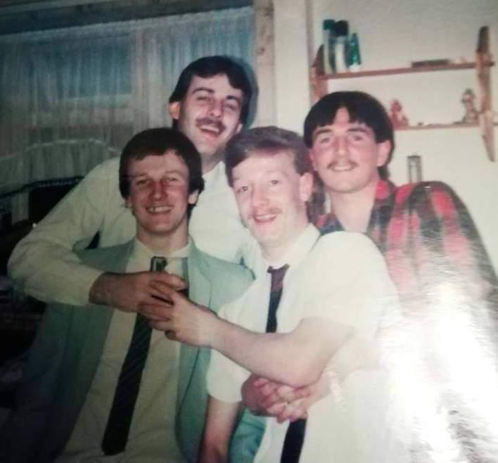 Mick Melaugh, Chris Johnson, Michael Merrington and Andy Melaugh!