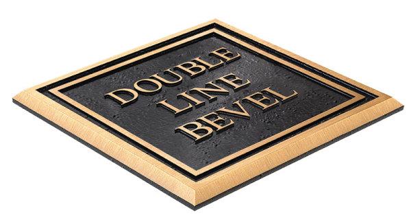 Double line bevel plaque