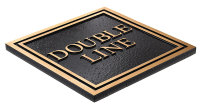 Double Line Plaque