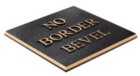 No Border Bevel Plaque