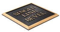 Single Line Bevel Plaque
