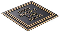 Inset Double Line Bevel Plaque