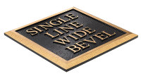 Single Line Wide Bevel Plaque
