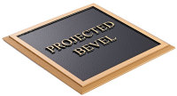 Projected Bevel Plaque