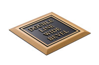 Double Line Wide Bevel Plaque