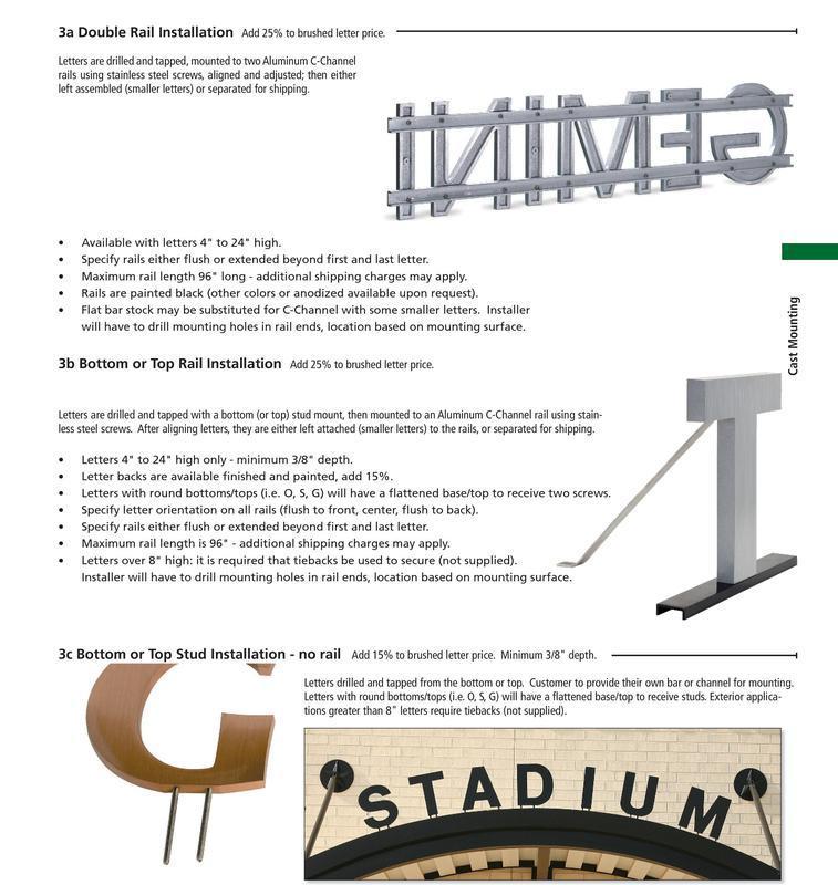 Metal letter installation 2