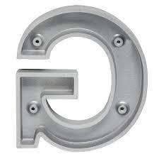 Cast metal letter rear