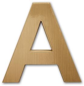 Cast metal letter front