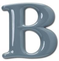 Formed Plastic Letter B
