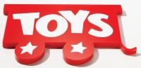 Flat Cut Plastic Logo Toy