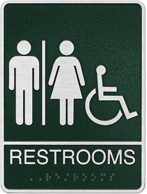 Restrooms ADA plaque