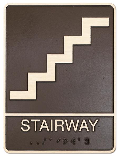 Stairway ADA plaque