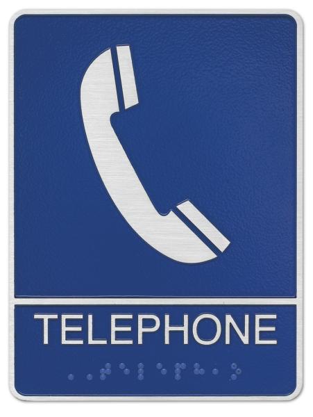 Telephone ADA plaque