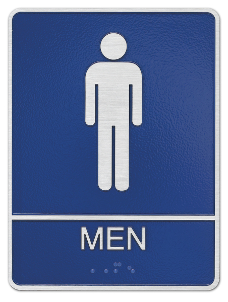 Men ADA Plaque
