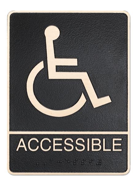 Accessible ADA Plaqueq