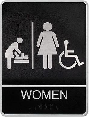 Women ADA Plaque