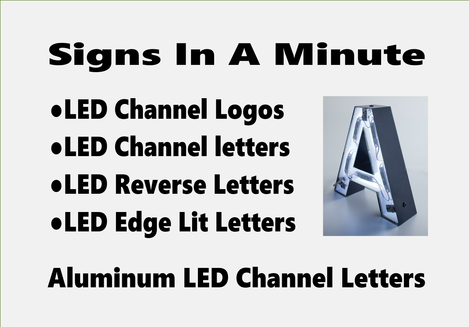 Aluminum LED Channel Letters