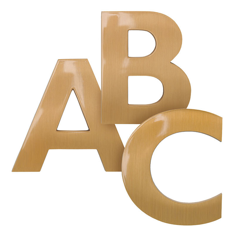 Flash Bronze Letters A, B and C