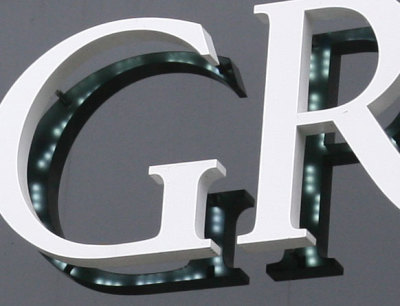 LED Letters without lexan back