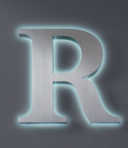 Stainless Steel Halo Lit Channel Letter