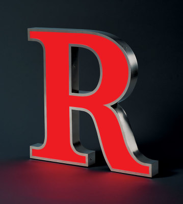 Stainless Steel Letter R with LEDs