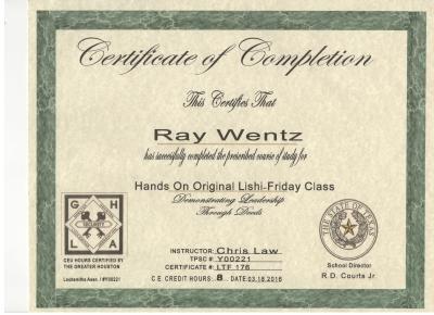 Quick-Pick Locksmith Ray's Lishi II Certification