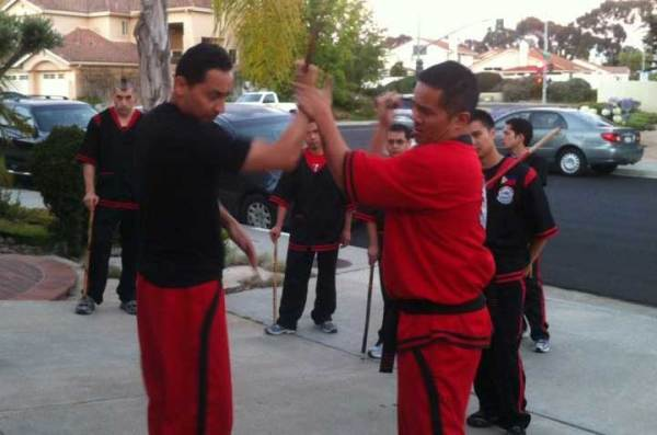 Master Albert demonstrating with Guro Ron