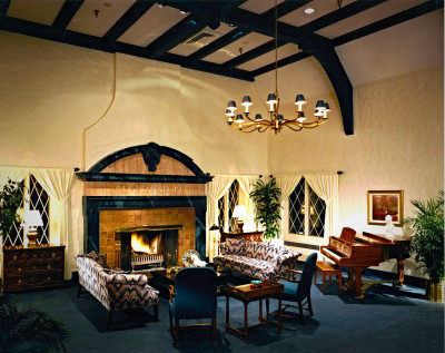 Photo of a luxurious and elegant traditional country club by interior designer Steven C. Adamko