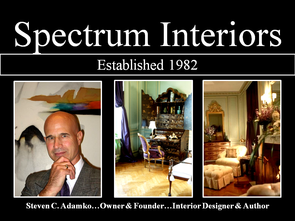 Photo Steven C Adamko, interior designer, and his inch your design work. Owner and founder of Spectrum Interiors, established in 1982 in Kalamazoo Michigan