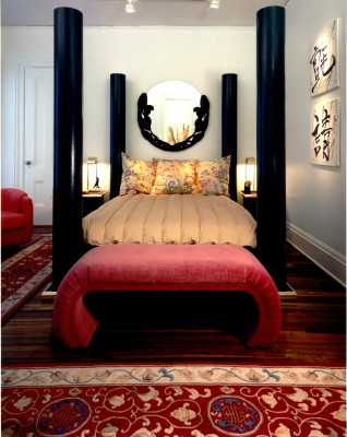 Contemporary Master Bedroom with Custom Furniture