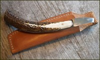 Antler handled hoof knife