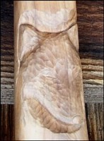 Custom carved knife handle